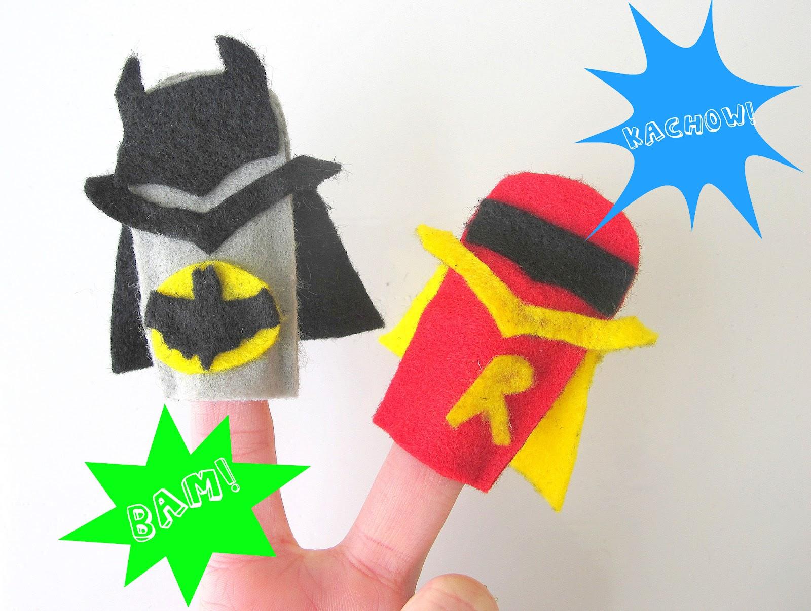 Super Hero Craft Week Super Hero Felt Finger Puppets
